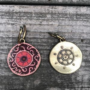 Reversible Medallion Earrings